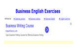 Buisiness English Exercises